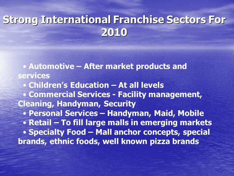 Strong International Franchise Sectors For 2010