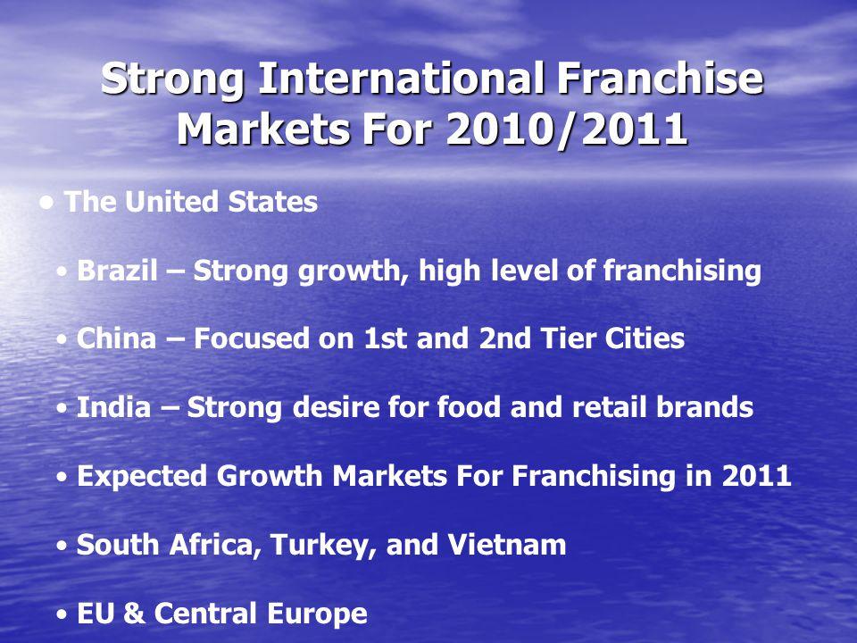 Strong International Franchise Markets For 2010/2011