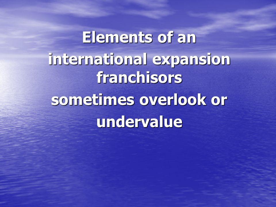 international expansion franchisors