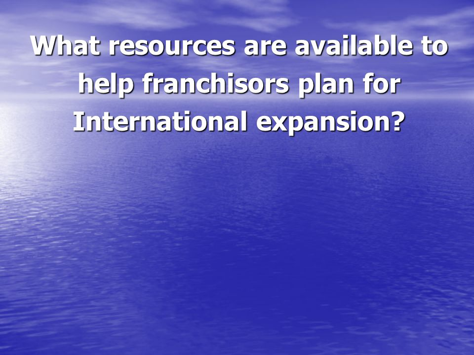 What resources are available to help franchisors plan for