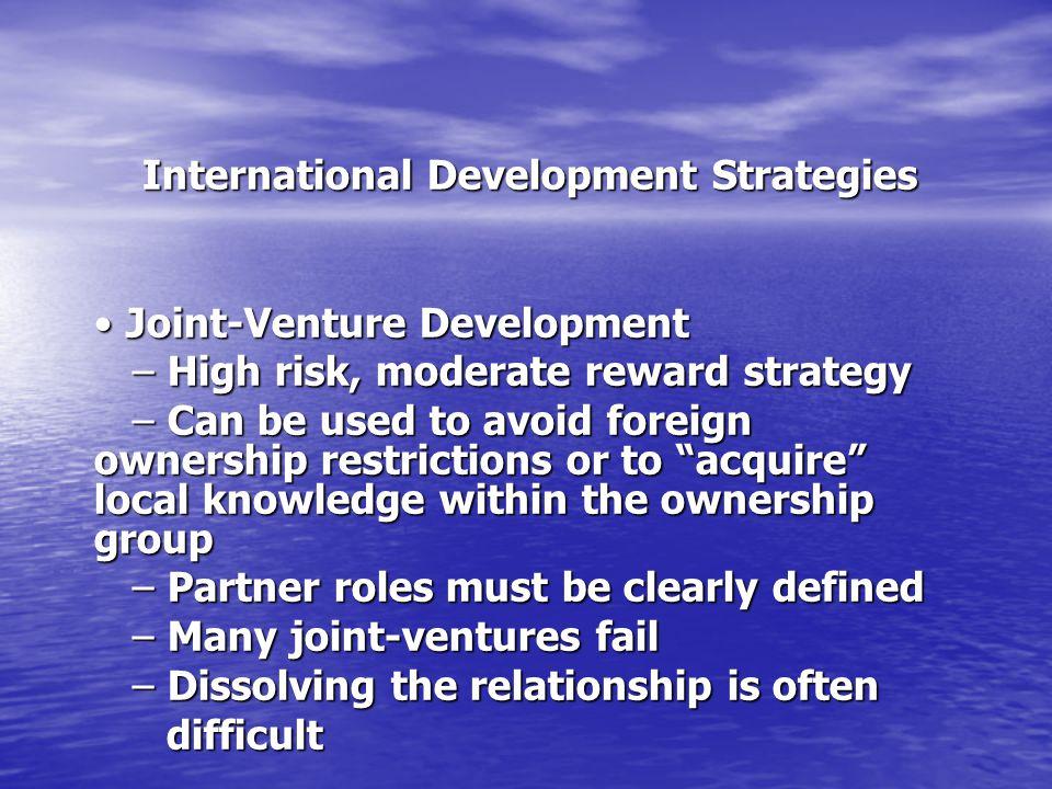 International Development Strategies