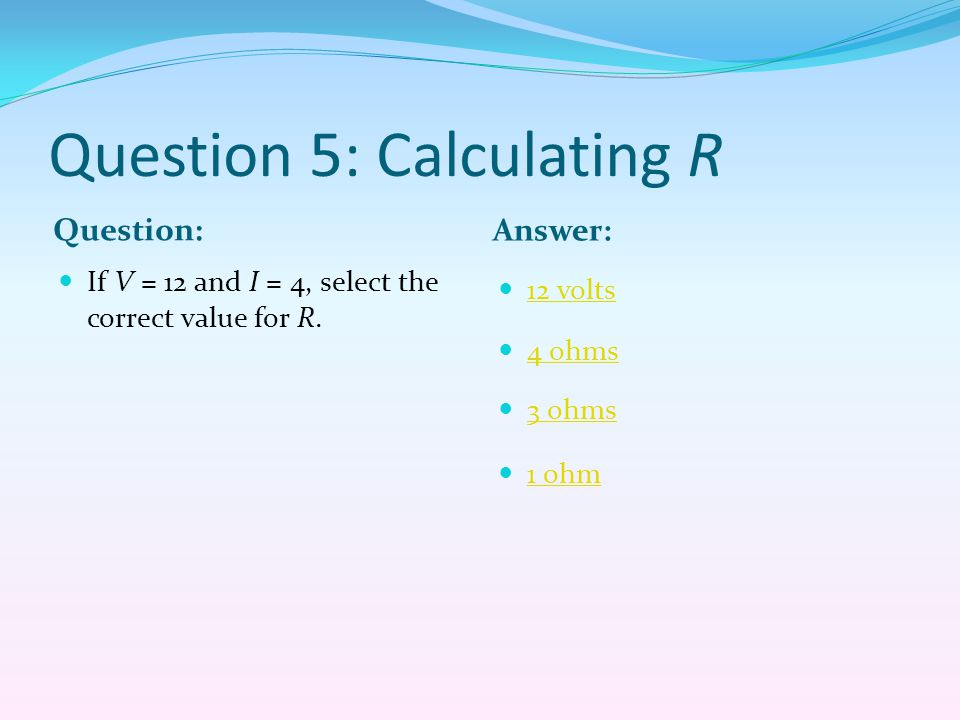 Question 5: Calculating R