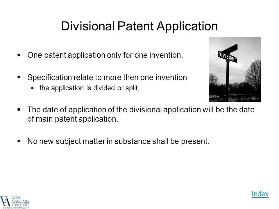 Divisional Patent Application