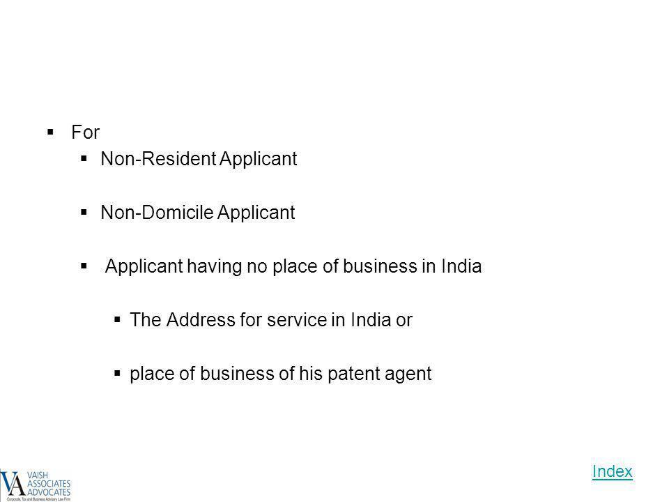 Non-Resident Applicant Non-Domicile Applicant