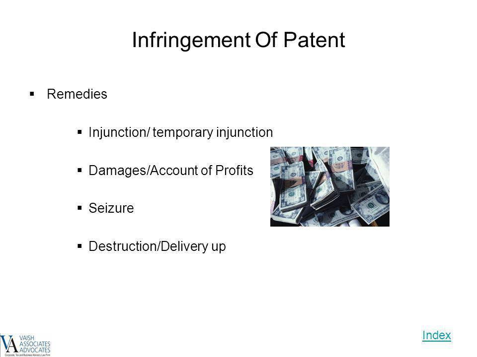 Infringement Of Patent