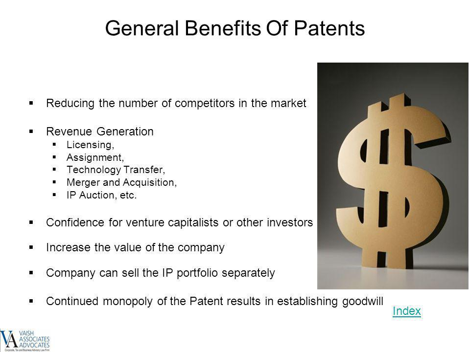 General Benefits Of Patents