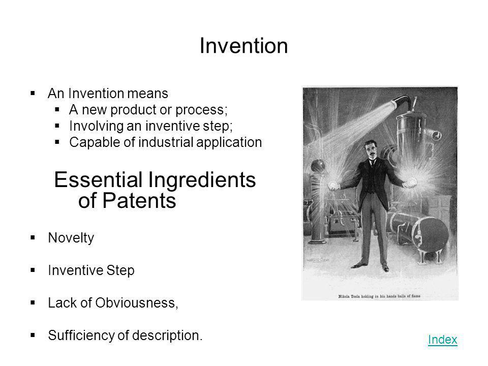 Essential Ingredients of Patents