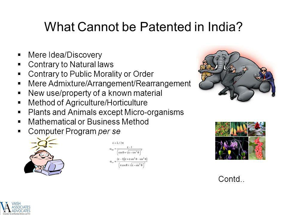 What Cannot be Patented in India
