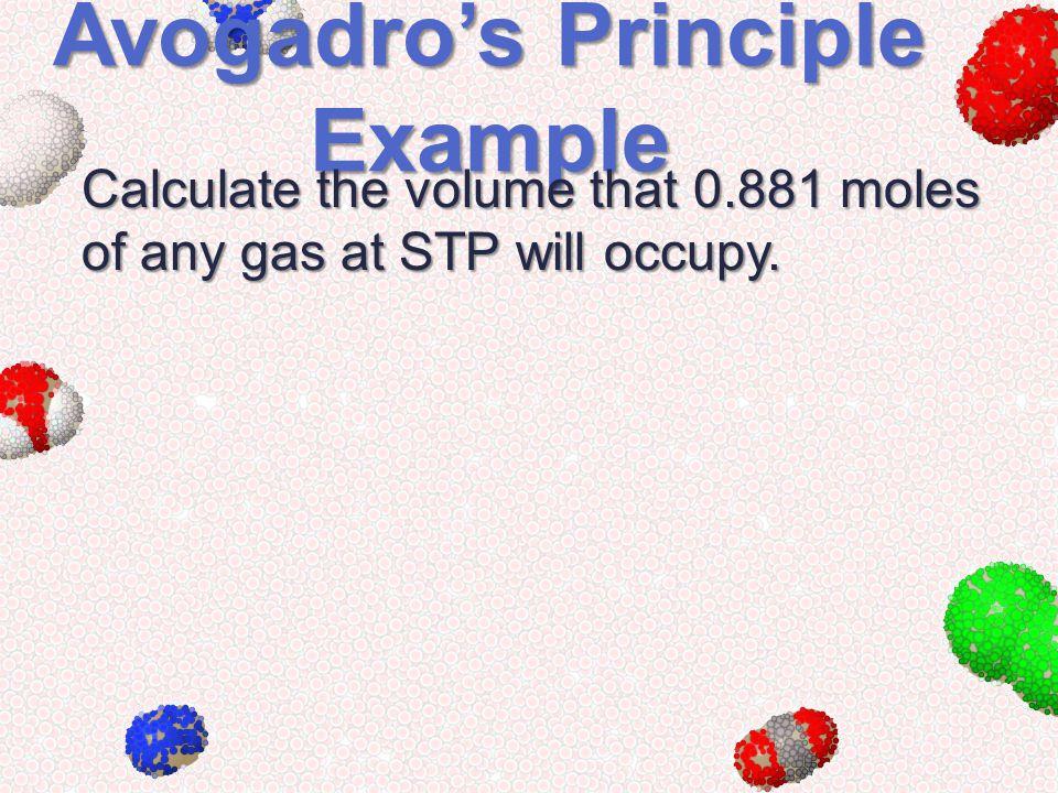 Avogadro's Principle Example