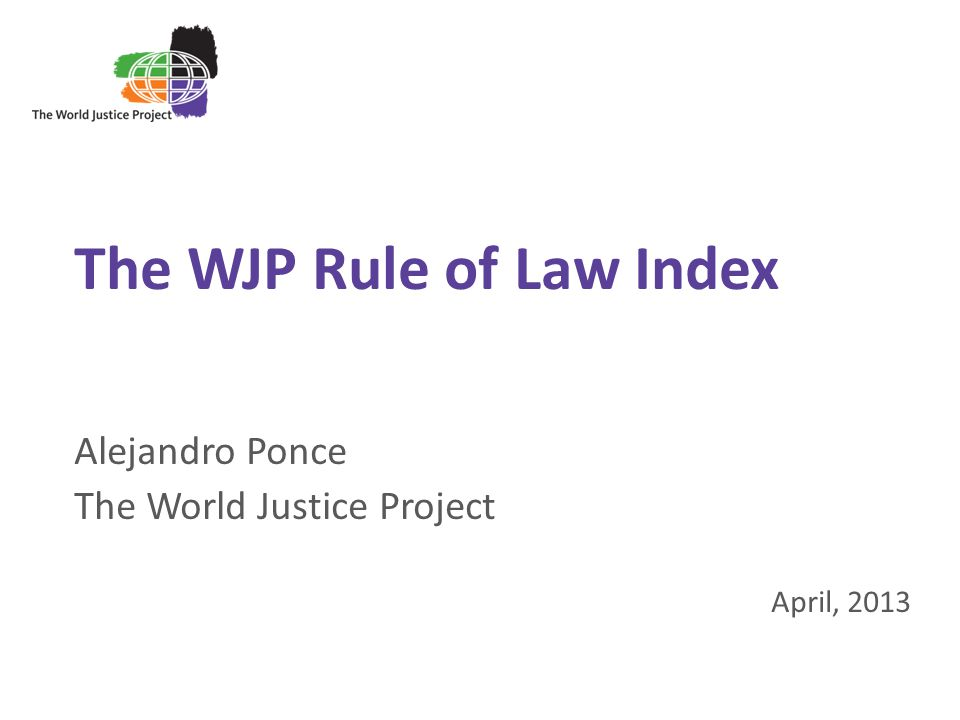 The WJP Rule of Law Index