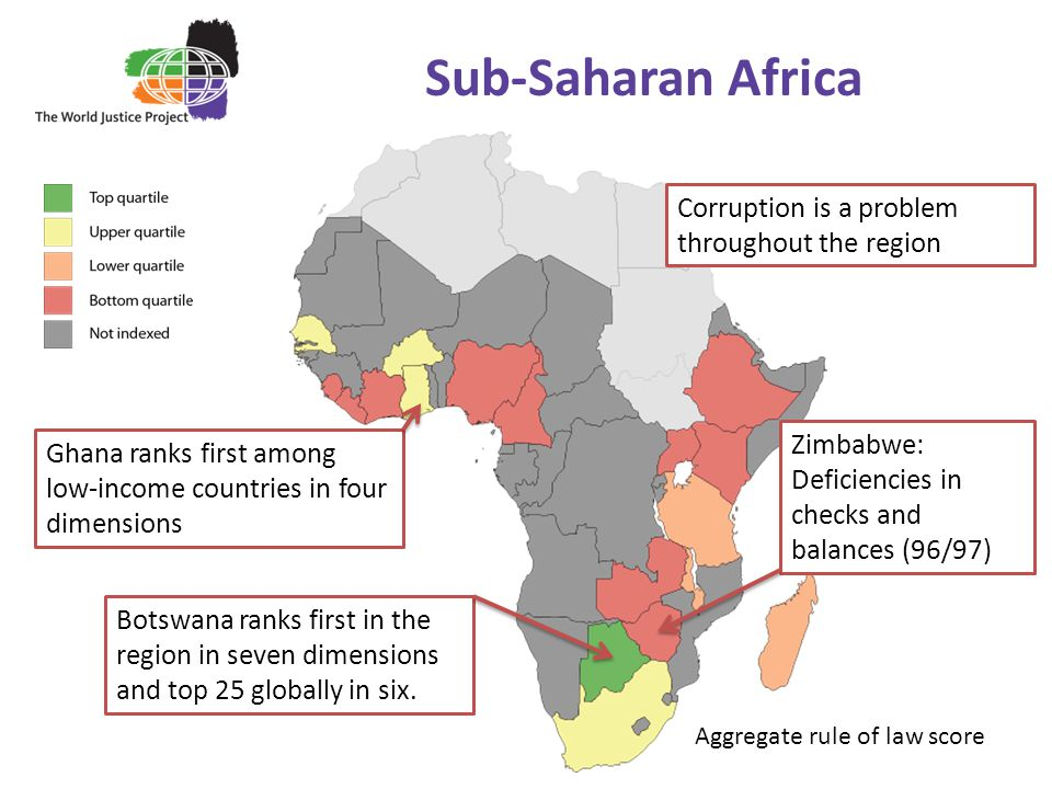 Sub-Saharan Africa Corruption is a problem throughout the region