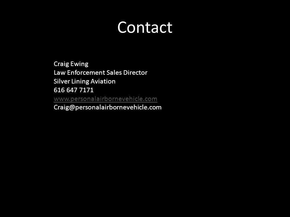 Contact Craig Ewing Law Enforcement Sales Director