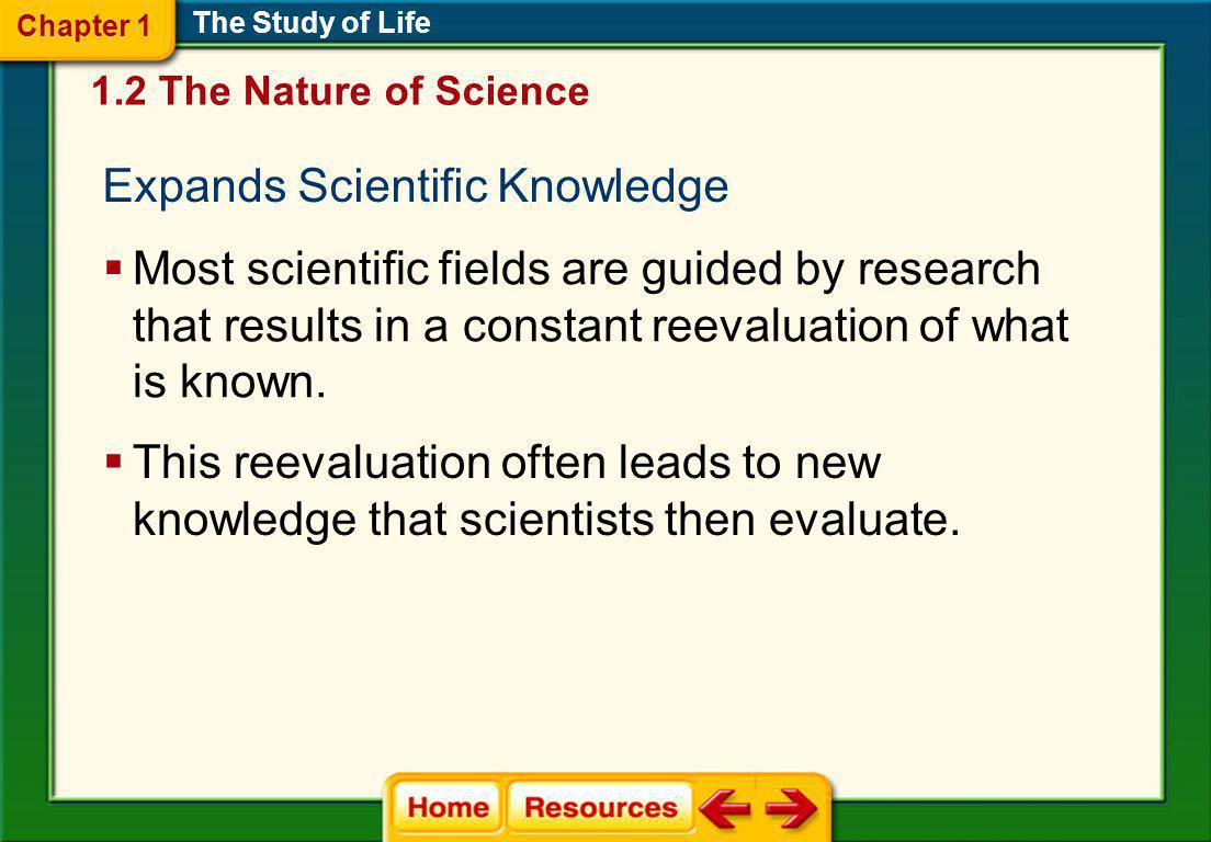 Expands Scientific Knowledge