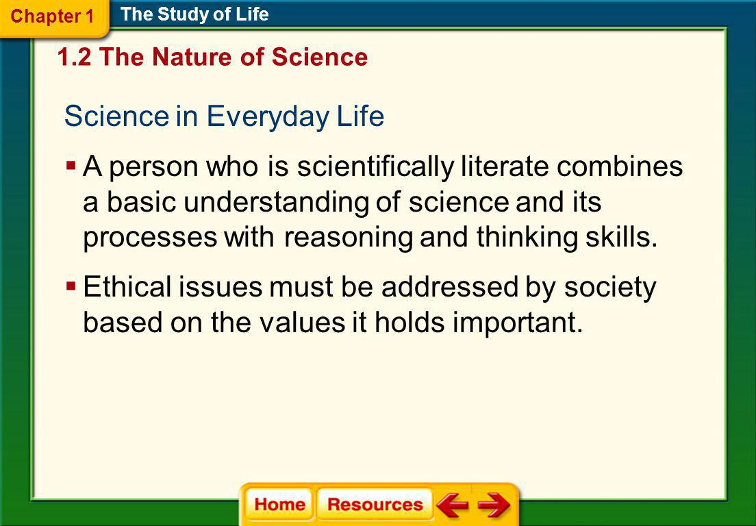 Science in Everyday Life