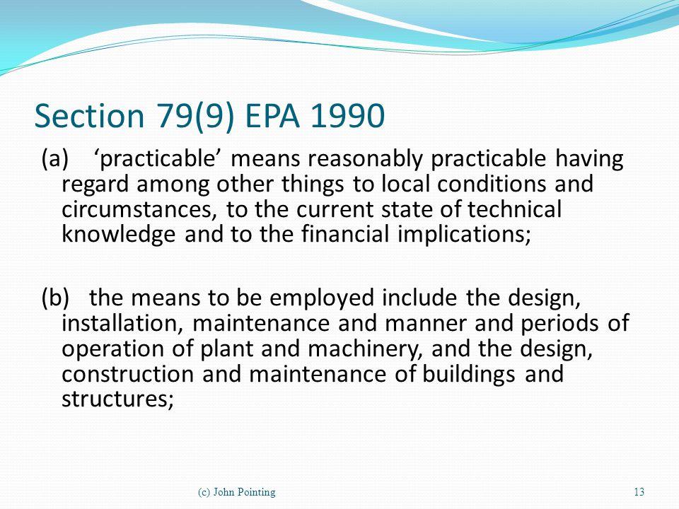 Section 79(9) EPA 1990