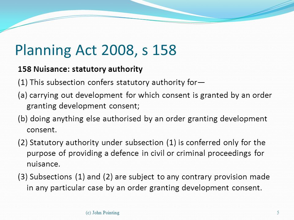 Planning Act 2008, s 158