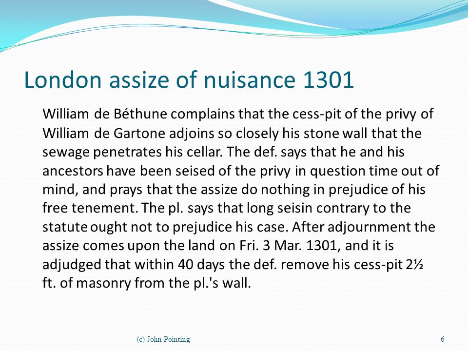 London assize of nuisance 1301