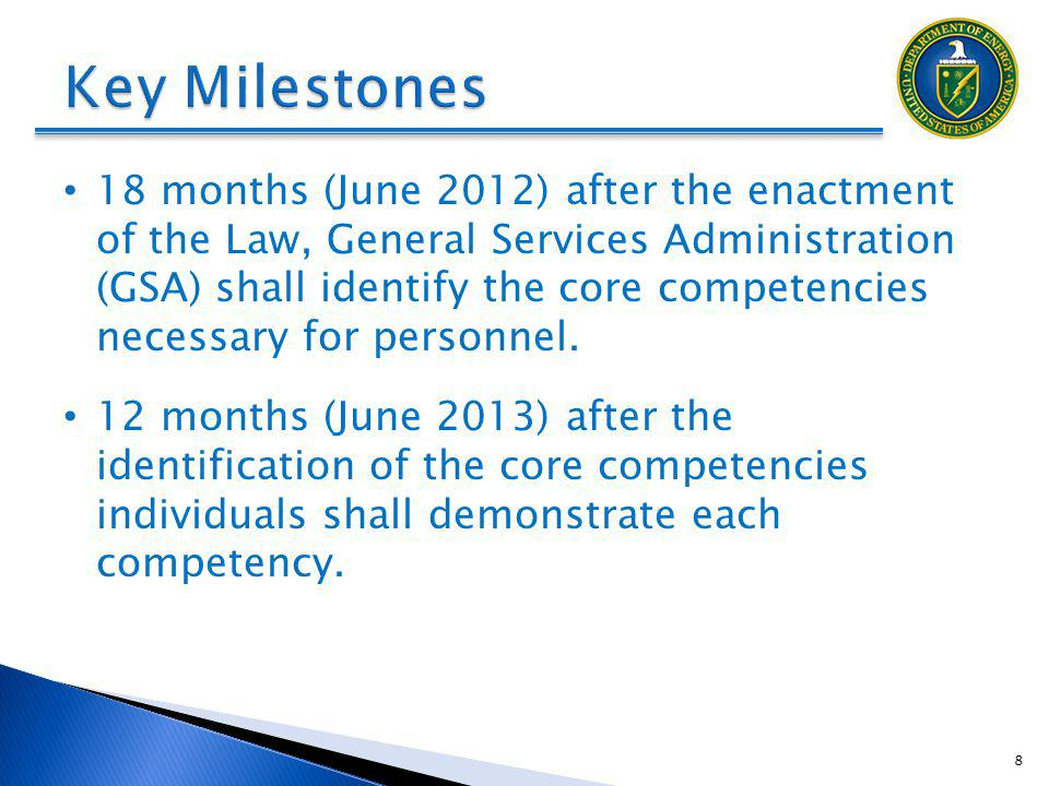 DRAFT Key Milestones.