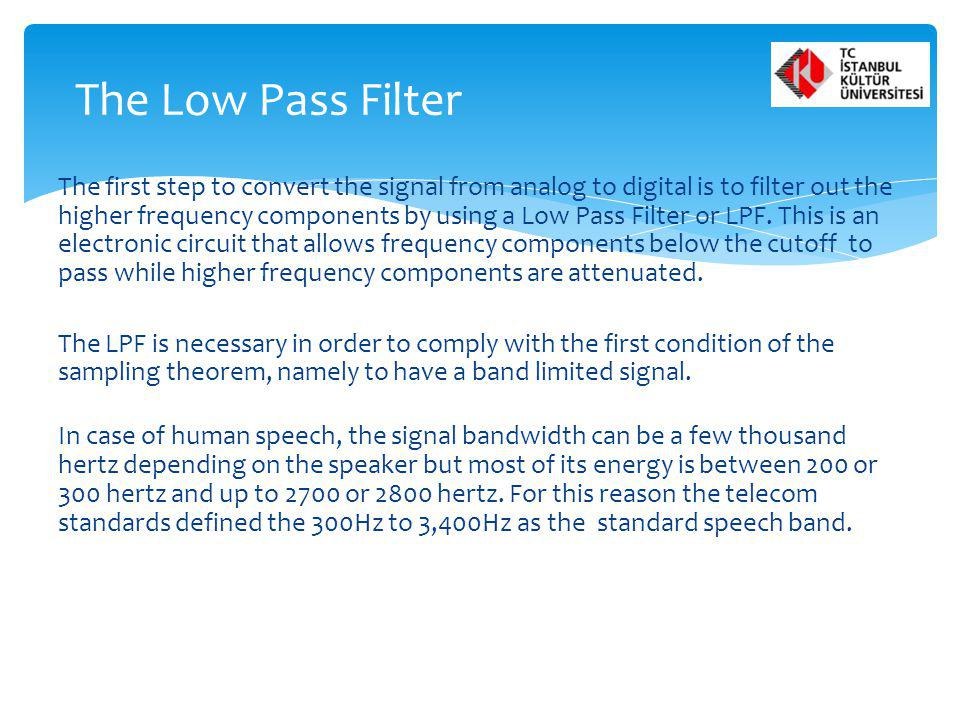 The Low Pass Filter