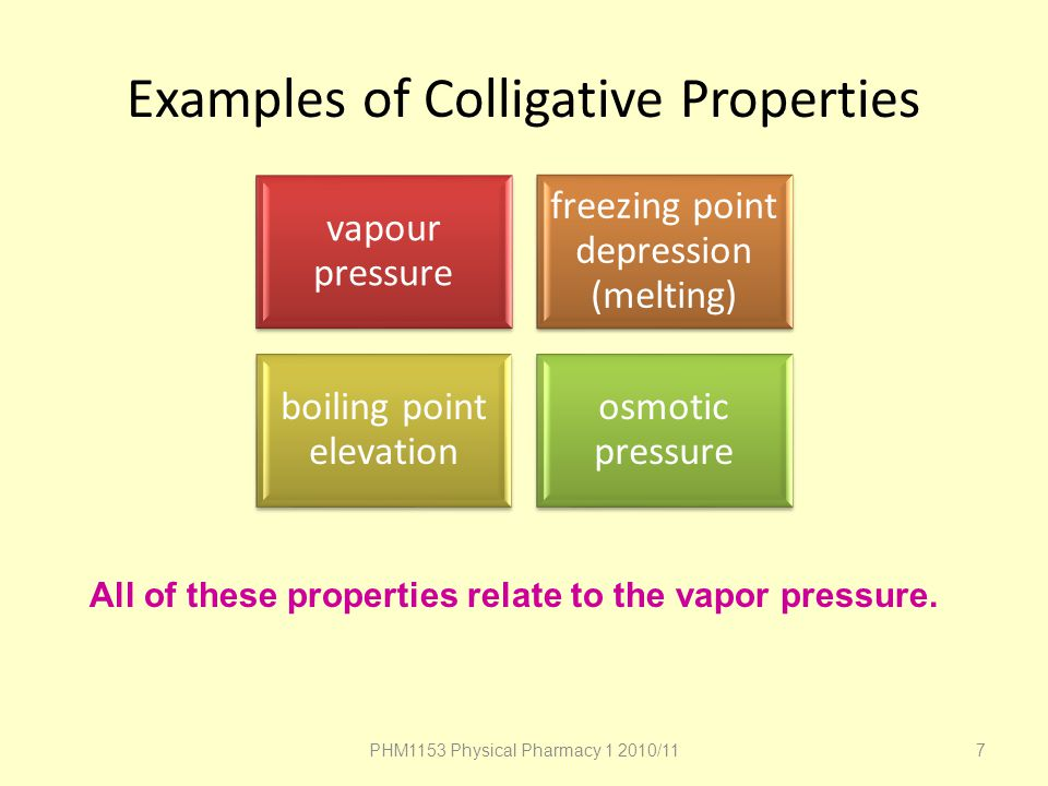 Examples of Colligative Properties