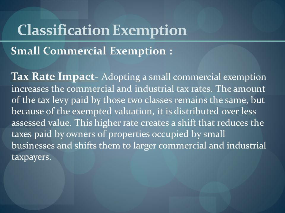 Classification Exemption