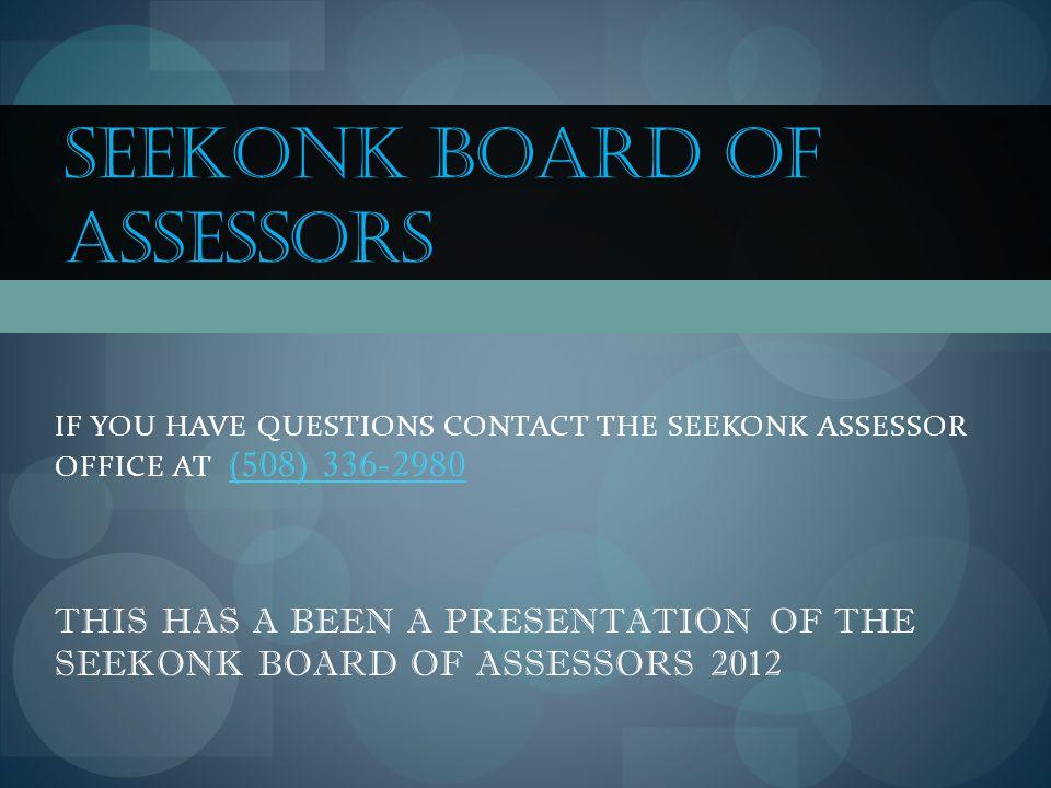 Seekonk Board of Assessors