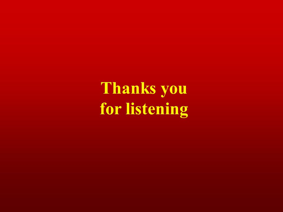 Thanks you for listening
