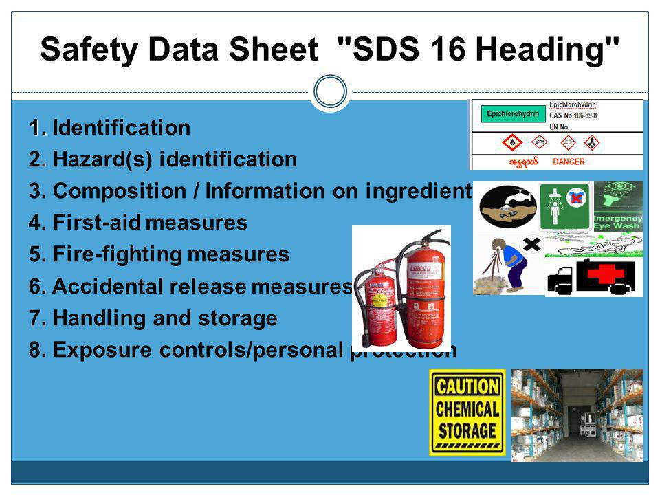 Safety Data Sheet SDS 16 Heading