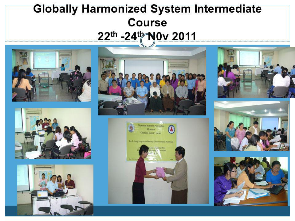 Globally Harmonized System Intermediate Course 22th -24th N0v 2011