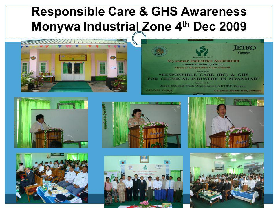 Responsible Care & GHS Awareness Monywa Industrial Zone 4th Dec 2009