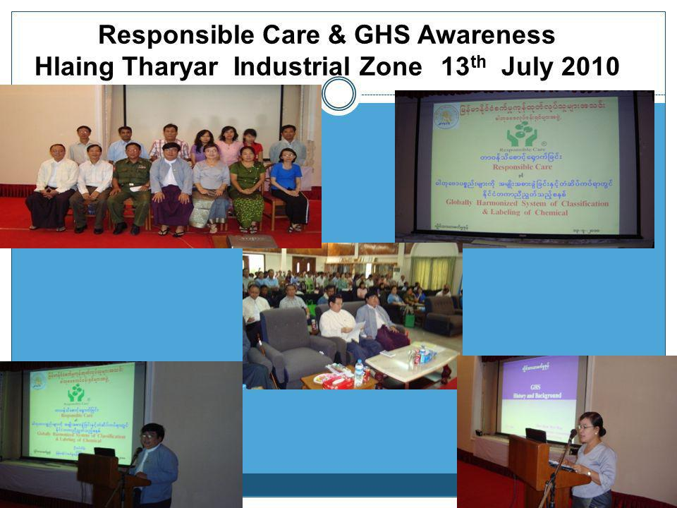 Responsible Care & GHS Awareness Hlaing Tharyar Industrial Zone