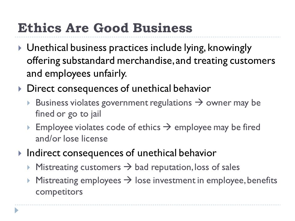 Ethics Are Good Business