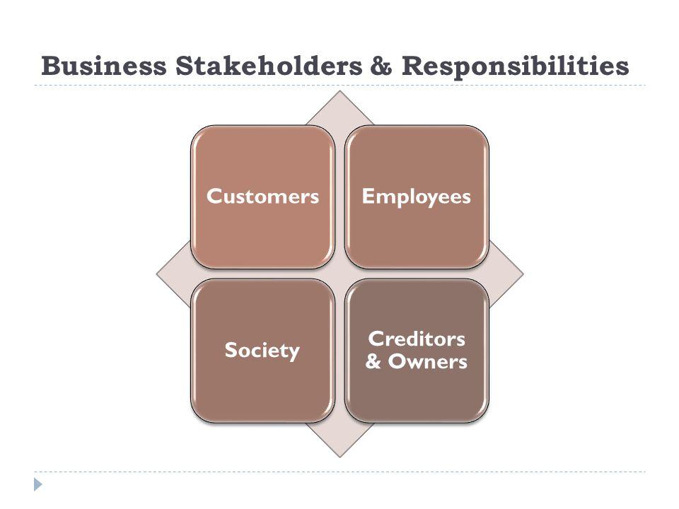 Business Stakeholders & Responsibilities