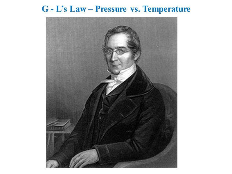 G - L's Law – Pressure vs. Temperature