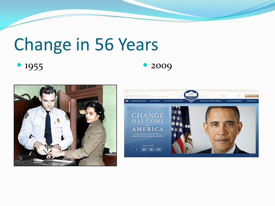 Change in 56 Years 1955 2009