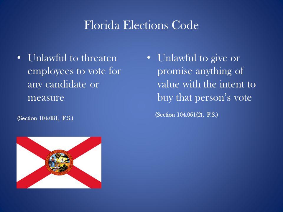 Florida Elections Code