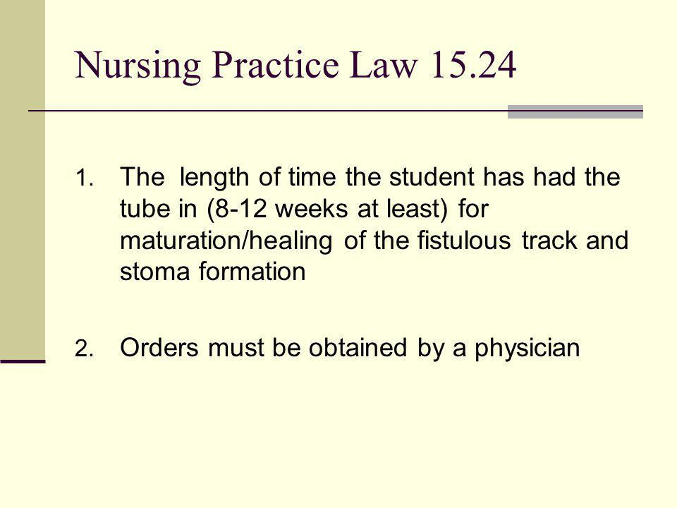 Nursing Practice Law 15.24