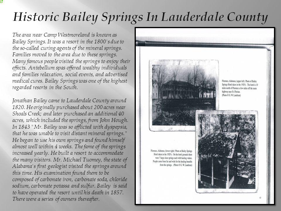 Historic Bailey Springs In Lauderdale County