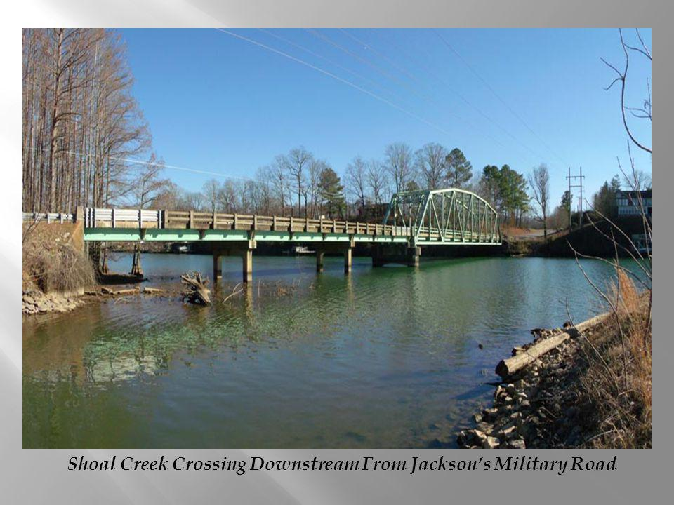 Shoal Creek Crossing Downstream From Jackson's Military Road