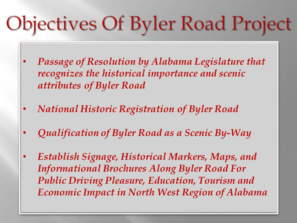 Objectives Of Byler Road Project