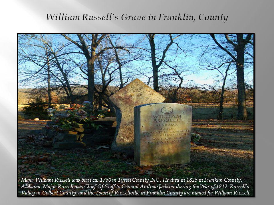 William Russell's Grave in Franklin, County