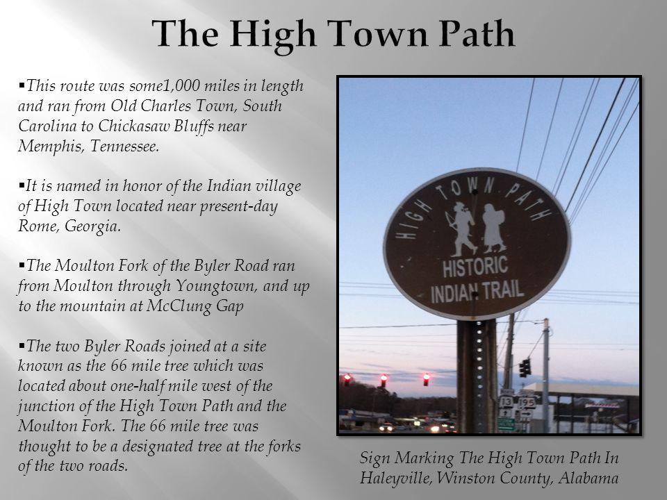 The High Town Path