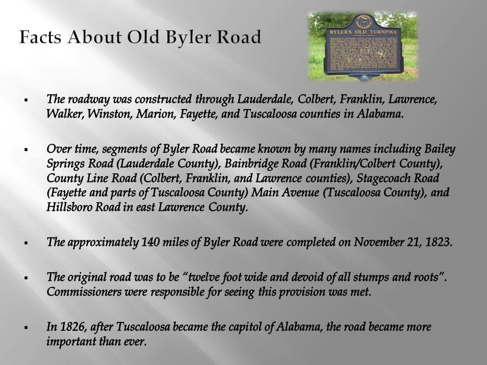 Facts About Old Byler Road