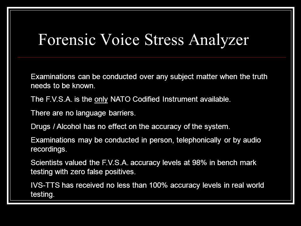 Forensic Voice Stress Analyzer