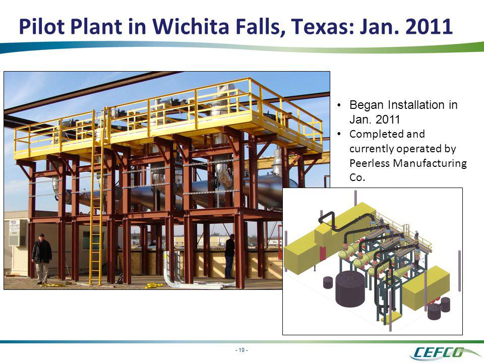 Pilot Plant in Wichita Falls, Texas: Jan. 2011