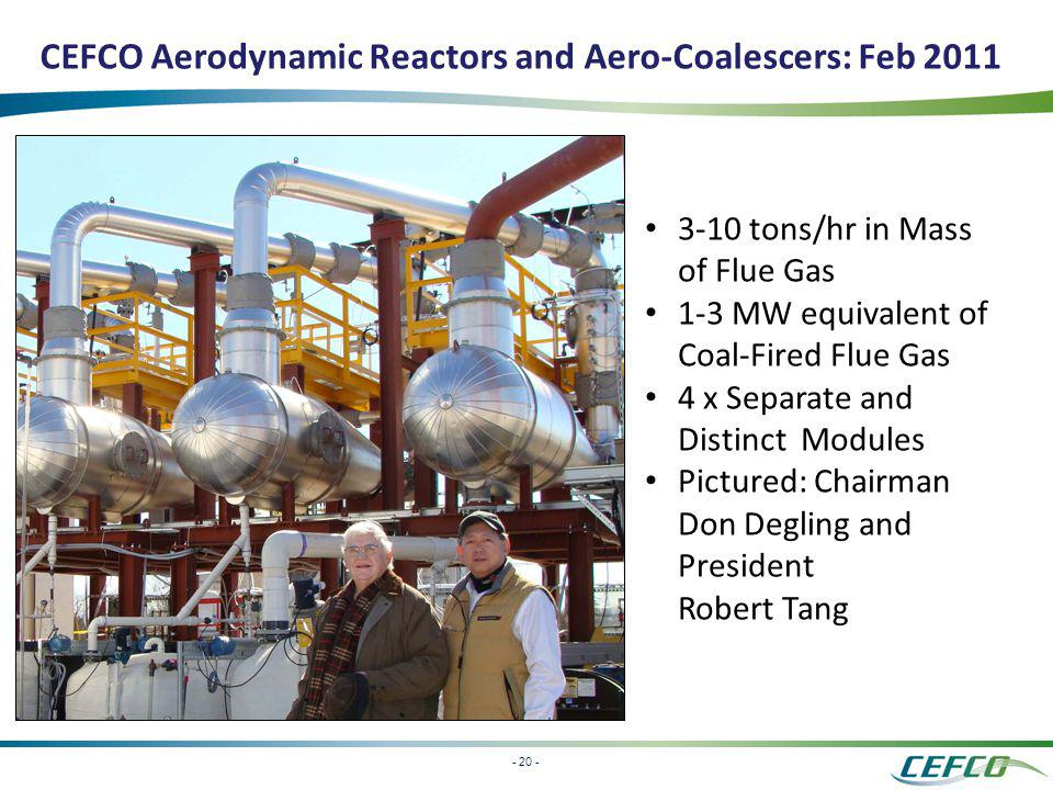 CEFCO Aerodynamic Reactors and Aero-Coalescers: Feb 2011