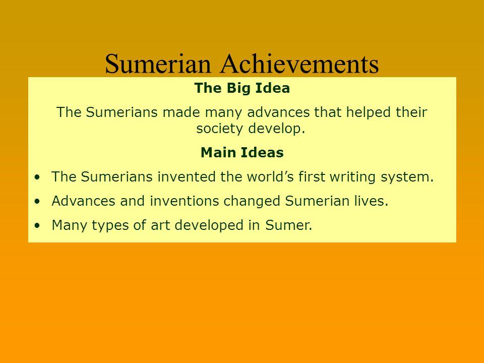 Sumerian Achievements