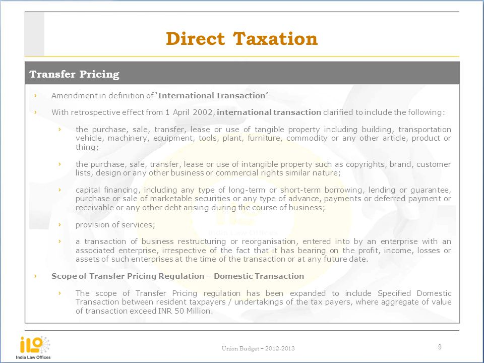 Direct Taxation Transfer Pricing