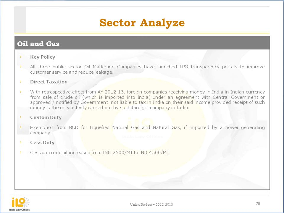 Sector Analyze Oil and Gas Key Policy