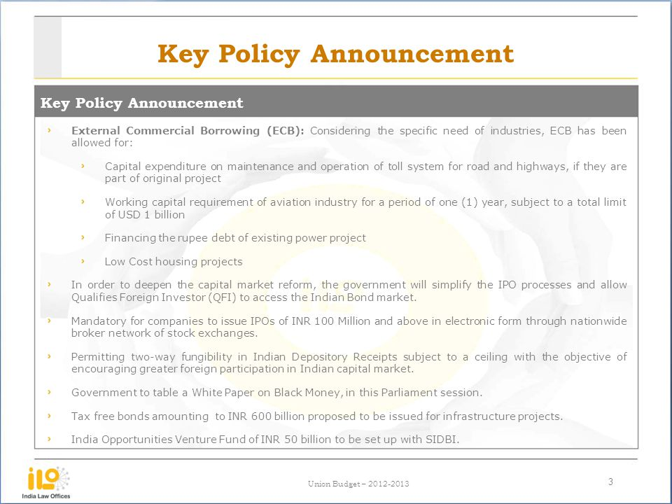Key Policy Announcement